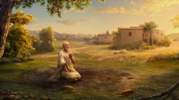 A fé de Jó em Deus não é abalada porque Deus está escondido dele
