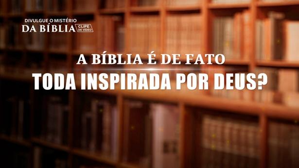 """Pergunta 5: Paulo disse em 2 Timóteo 3:16: """"Toda Escritura é divinamente inspirada […]"""" Isso mostra que tudo na Bíblia é a palavra de Deus. Mas, na verdade, há pessoas que dizem que nem tudo na Bíblia é a palavra de Deus. Isso não é negar a Bíblia e enganar as pessoas?"""